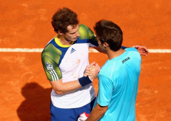 Murray Shake Hand With Granollers in the Spirit of Fair Play.