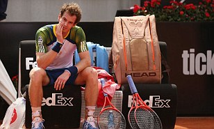 Murray, a Serious Doubt for French Open After Retiring From a Second Round Italian Open Clash With Granollers, Due to Hip Problem.