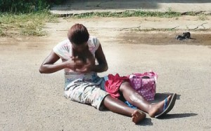 21-year-old Mother Bares Chest In Hunger Protest