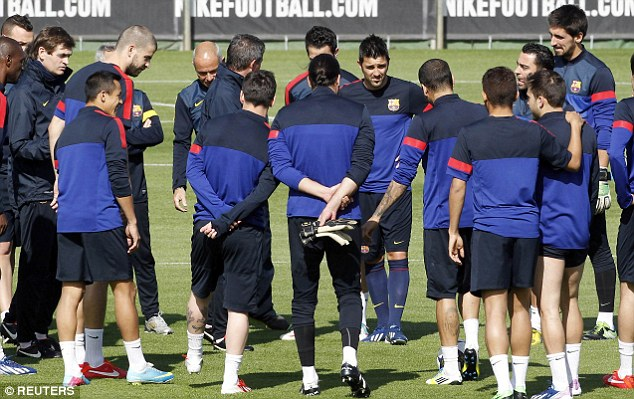 Barcelona at a Training Session.