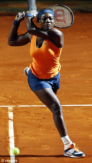 Serena Outclassed British No. 1 Robson in Round Two of the Italian Open.
