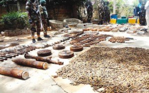 weapons discovered in Bompai