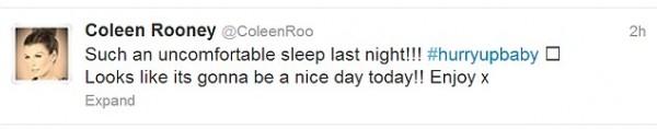 Coleen's Tweet Last Night.