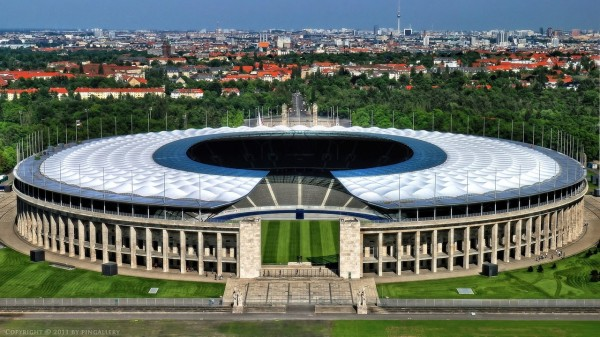 Berlin Olympic Stadium (Outside Landscape View.)