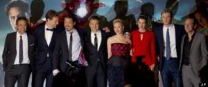 Mark Ruffalo, Tom Hiddleston, Robert Downey Jr, Jeremy Renner, Scarlett Johansson, Cobie Smulders, Chris Hemsworth, Clark Gregg
