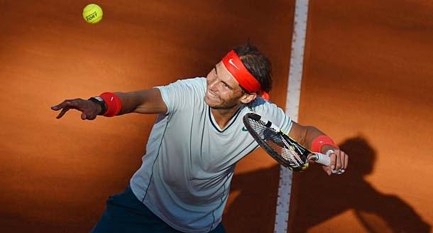 Rafael Nadal at the Foro Italico.