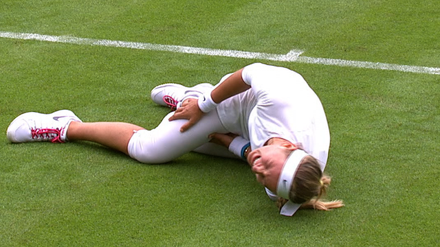 Victoria Azarenka Failed to Recover From Knee Injury and Had to Pull Out of Wimbledon 2013 Second Round.