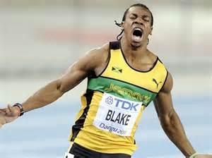World 100m Champion Yohan Blake.