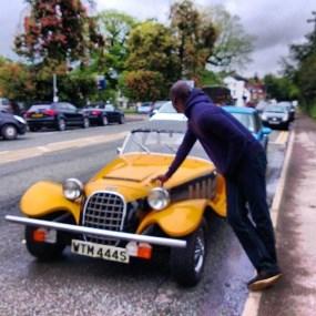 Photos: Nollywood stars and their toys – Stephanie Linus & Chris Attoh pose with their cars