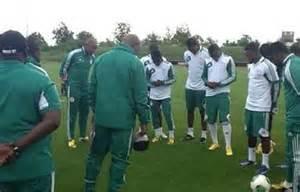 Super Eagles' Training Session.