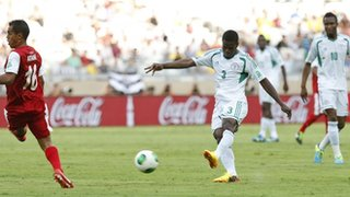 Echiejile's First Goal Took Two huge Deflections Before Finding the Net.