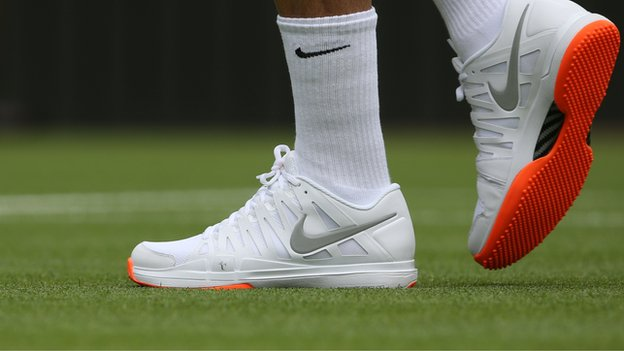 You Can't Use Any of This Again: Roger Federer Will Have to Swap This Pair For An All-White Trainers Tonight.