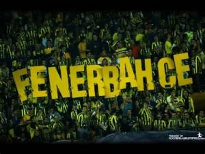 Fans of Fenerbahce FC.