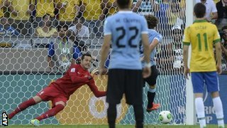 Diego Forlan Wasted Uruguay's Early Opportunity to Get in the Lead.