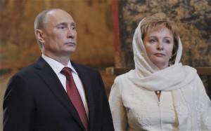 Russian President Vladimir Putin and his ex-wife, Lyudmila,
