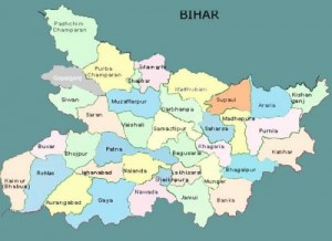 map of Bihar, India