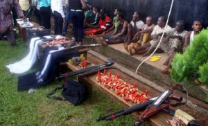some of the suspects paraded in Benin City image: Vanguard