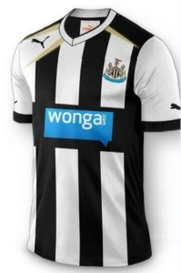 The New Newcastle Home Kit Sponsored By Wonga.
