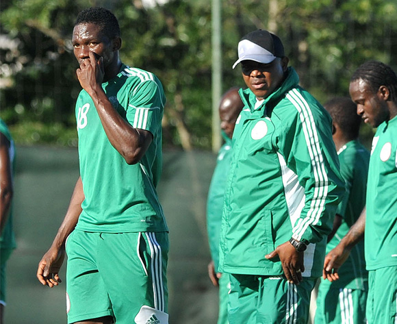 Coach Stephen Keshi (Second From Left)