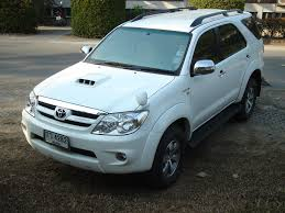 white Toyota Fortuner