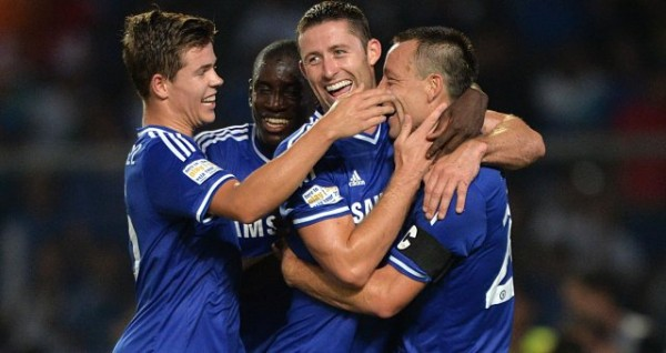 John Terry's Goal Celebrated With Teammates.