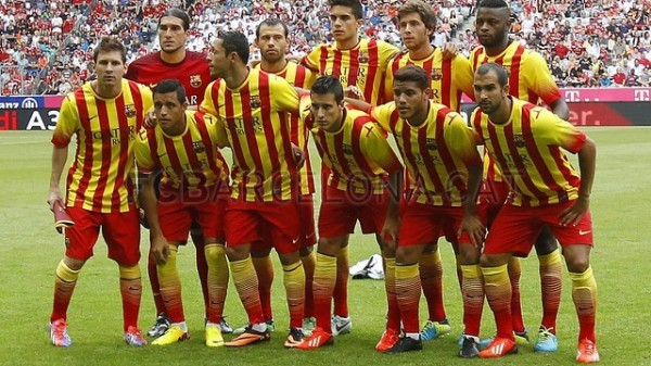 Barcelona's Starting Eleven of the Night.