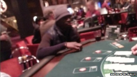 This Picture Later Emerged Showing the Senegalese at a Casino.