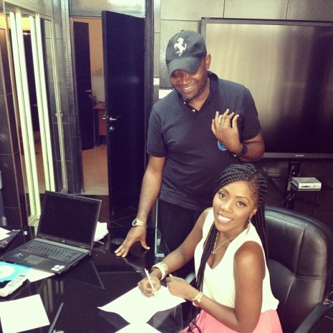 Telecoms Rivalry: Singer Tiwa Savage Joins Team MTN