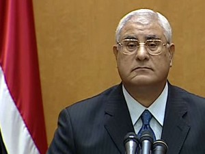 Egypt's Interim President Adly Mansour Issues Election Timetable Amid Protests
