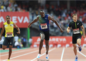 Bolt Put Paid to Tyson Gay's Season-Long Record at the IAAF Diamond League Meeting in Paris.