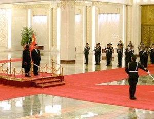 President Goodluck Jonathan with China's President Xi Jinping