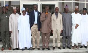 From left to right: Imo State Deputy Governor; Prince Eze Madumere; Nasarawa State Deputy Governor; Dameshi Mama Luka; Governors Abiola Ajimobi (Oyo); Babatunde Fashola (Lagos); Kayode Fayemi (Ekiti); the host,Rotimi Amaechi (Rivers);Ibikunle Amosun (Ogun); Zamfara State Deputy Governor, Alhaji Muktar Anka and Osun State Governor Rauf Aregbesola