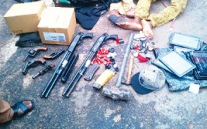 items recovered from the armed robbers