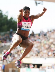 Blessing Okagbare's 6.98m Jump at the Lousanne Meeting.