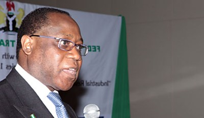 MINISTER OF INDUSTRY, TRADE AND INVESTMENT, DR. OLUSEGUN AGANGA