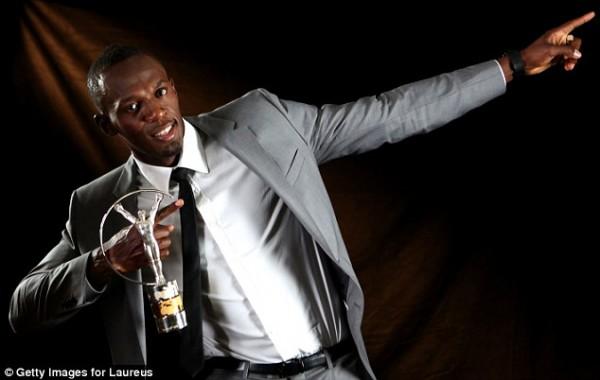 London 2012 Double Gold Medalist Usain Bolt.