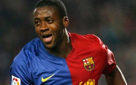 Yaya Toure in the Colours of Barcelona Before Joining Man City.