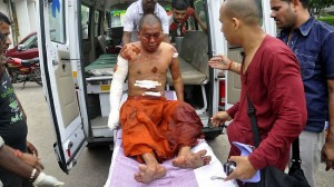 monk injured in the attack