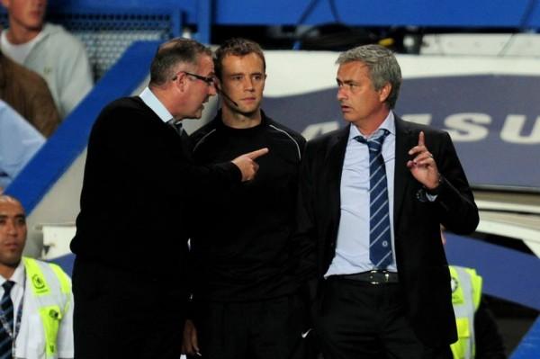 Paul Lambert Points Out to Jose Mourinho Branislav Ivanovic Should Have Been Sent Off.