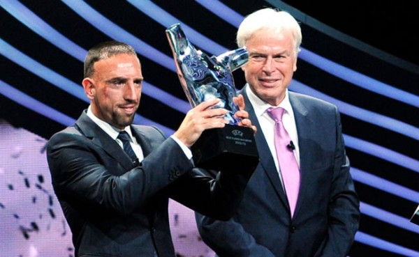 Ribery Wins Best Player in Europe Award.