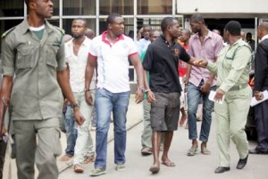 Suspects at the Rivers State High Court,Port Harcourt