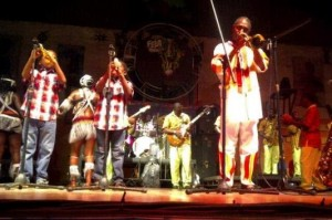 Big Shoes To Fill: Femi Kuti's sons perform live show with him on stage