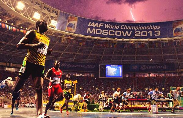 Usain Bolt Claims a Spot in the History Books With Eight World Championships Titles.