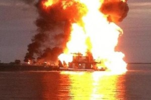 file image: barge on fire