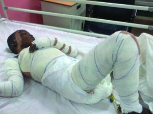 Late Ita Bassey-Eno while receiving treatment at Gbagada General Hospital