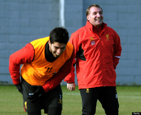 Suarez Back to Liverpool's First Team Training.