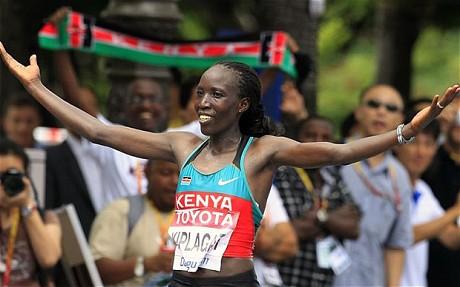 Edna Kiplagat Won the Marathon Race in Daegu in 2011.