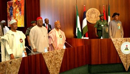 FEC MEETING, GOODLUCK, SAMBO, SGF AND HOS