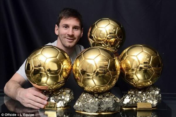 Lionel Messi Flaunts His Golden Balls.