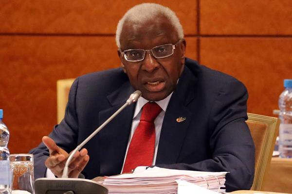 IAAF President Lamine Diack.